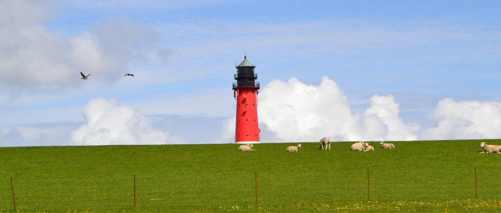 Leuchtturm auf Pellworm als Symbol für Sichtbarkeit